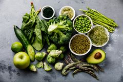 Healthy Green food Protein source for vegetarians Royalty Free Stock Images
