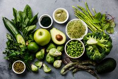Healthy Green food Protein source for vegetarians Stock Photo