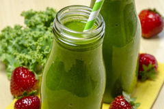 Healthy Green Juice Smoothie Drink Stock Images
