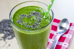 Healthy Green Juice Smoothie Drink Stock Photography