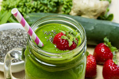 Healthy Green Juice Smoothie Drink stock image