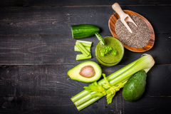 Healthy green juice smoothie Stock Photography