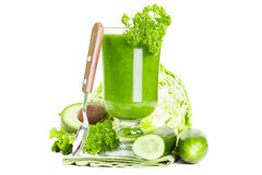 Healthy green juice smoothie Royalty Free Stock Image