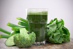 Healthy green juice Royalty Free Stock Image