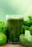 Healthy green juice Stock Photos