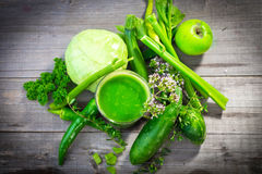 Healthy green juice Stock Image