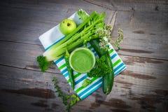 Healthy green juice Stock Photo