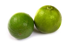 Healthy green lime fruit Stock Photo