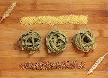Healthy green noodles Royalty Free Stock Image