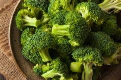 Healthy Green Organic  Raw Broccoli Florets Stock Photos