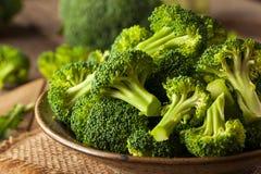 Healthy Green Organic  Raw Broccoli Florets Royalty Free Stock Photos