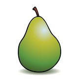 Healthy cartoon pear Royalty Free Stock Image