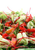Healthy green salad. On white background Stock Images
