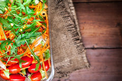 Healthy green salad with cherry tomatoes -  Vegetable salad bowl Stock Photo