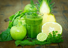 Healthy green smoothie Stock Image