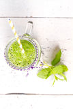 Healthy green smoothie drink with celery Stock Image