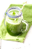 Healthy green smoothie drink with mint Royalty Free Stock Photography