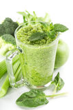 Healthy green smoothie Royalty Free Stock Photos