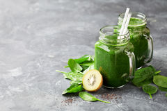 Healthy green smoothie Royalty Free Stock Image