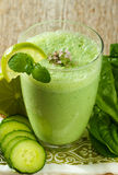 Healthy green smoothie Royalty Free Stock Photo