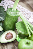 Healthy green smoothies. Stock Photo