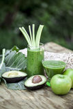 Healthy green smoothies. Stock Image
