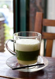Healthy green tea on the table Royalty Free Stock Photography