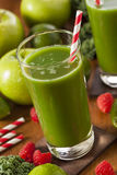 Healthy Green Vegetable and Fruit Smoothi Juice Royalty Free Stock Photography