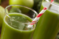 Healthy Green Vegetable and Fruit Smoothi Juice Stock Images