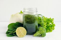 Healthy green vegetable juice Royalty Free Stock Photo
