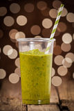 Healthy green vegetable smoothie Stock Photo
