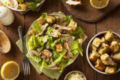 Free Healthy Grilled Chicken Caesar Salad Royalty Free Stock Photo - 49277095