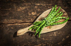 Healthy grilled green runner beans Royalty Free Stock Images