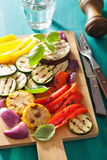 Healthy grilled vegetables on chopping board Royalty Free Stock Images