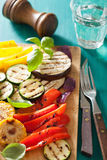 Healthy grilled vegetables on chopping board Royalty Free Stock Photo