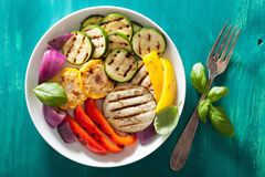 Healthy grilled vegetables on plate Royalty Free Stock Photo