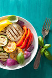 Healthy grilled vegetables on plate Royalty Free Stock Image