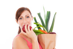 Healthy groceries stock images