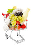 Healthy groceries shopping cost Stock Image
