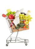 Healthy groceries shopping cost Stock Photography