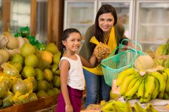 Healthy grocery shopping Royalty Free Stock Photos