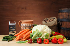 A healthy group of vegetables Royalty Free Stock Image