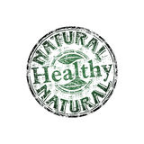 Healthy grunge rubber stamp. Green grunge rubber stamp with the word healthy written inside the stamp Royalty Free Stock Images