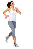Healthy gym woman stock images