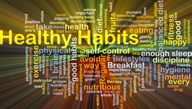 Healthy habits background concept glowing Stock Photos