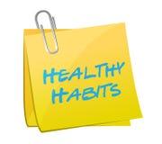 Healthy habits post illustration design Royalty Free Stock Image