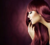 Healthy Hair. Beauty Portrait. Healthy Hair. Holiday makeup Stock Images