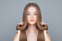 Healthy Hair Woman Royalty Free Stock Images