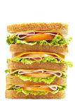 Healthy ham big sandwich Royalty Free Stock Image