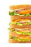Healthy ham big sandwich Royalty Free Stock Image